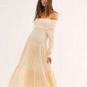 Free People Someone Like You Maxi Off The Shoulder
